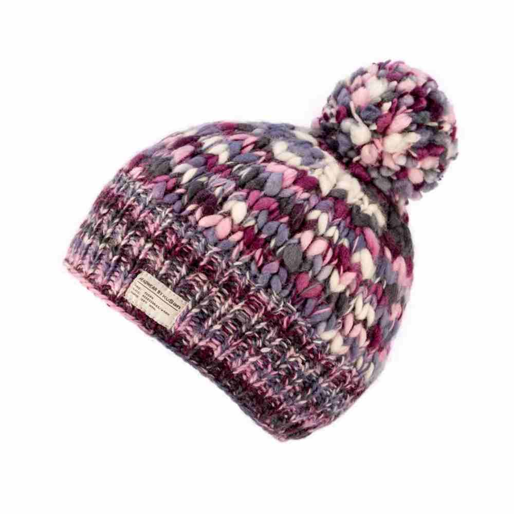 Kusan London Berretto lana multicolor Bobble L e9f1a948dd42