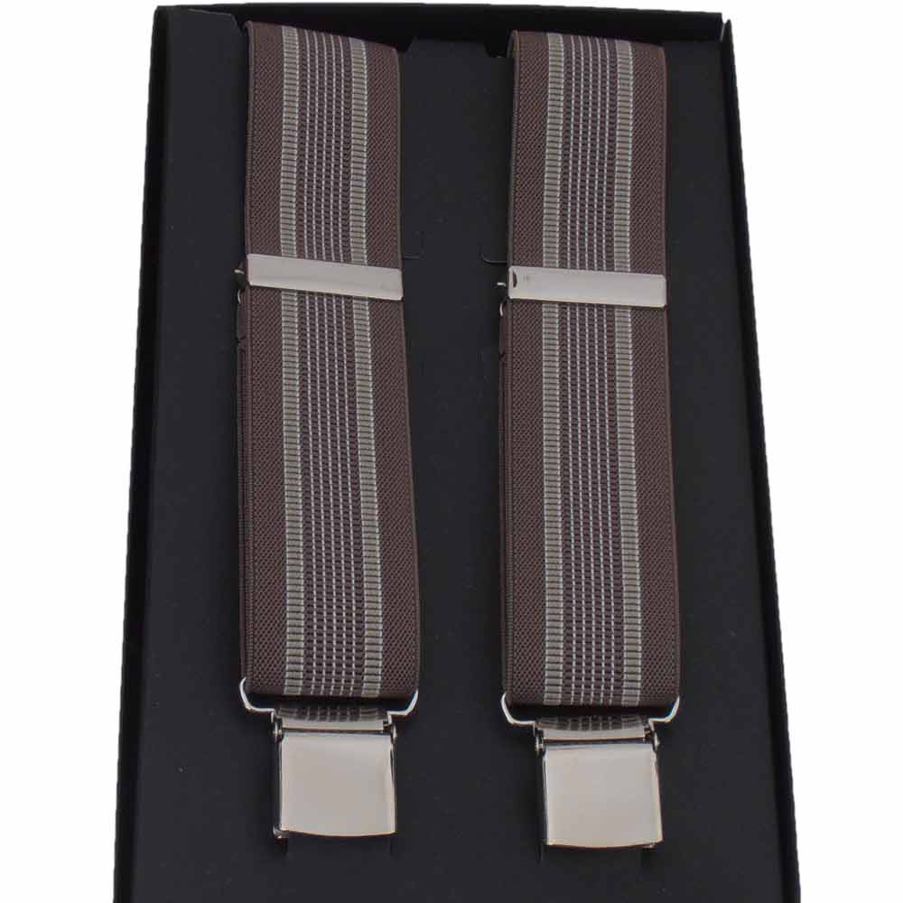 Melegari Braces classic wide elastic 3.6 cm Stripes