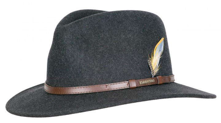 Stetson Newberg VitaFelt Hat Dark gray