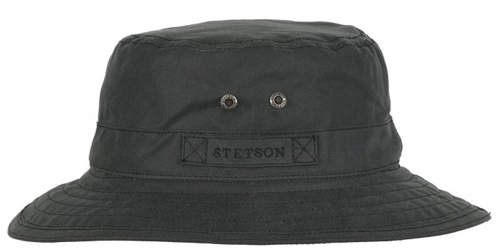 Chapeau Atkins Waxed Cotton Stetson imperméab