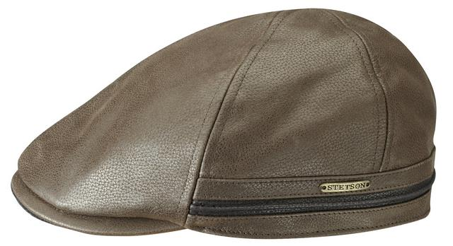 Stetson cowhide Duck cap Brown