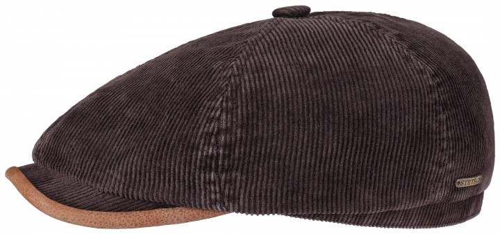 Stetson Oregon Corduroy Flat Cap Brown