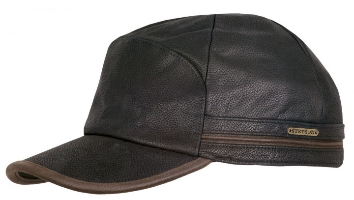 Stetson Byers leather cap