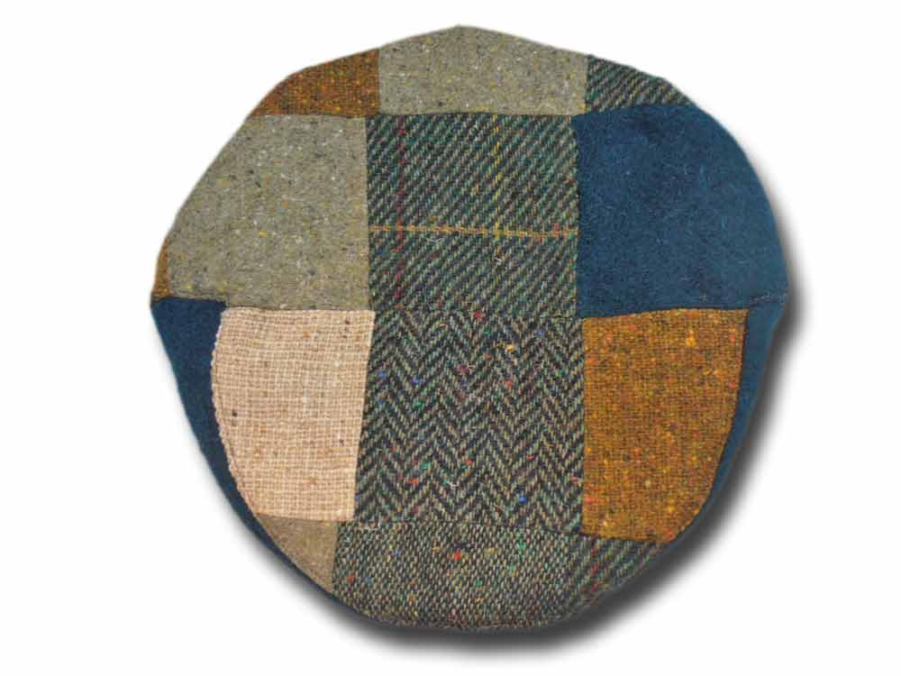 Berretto donegal patchwork piatto Gerry Hatman