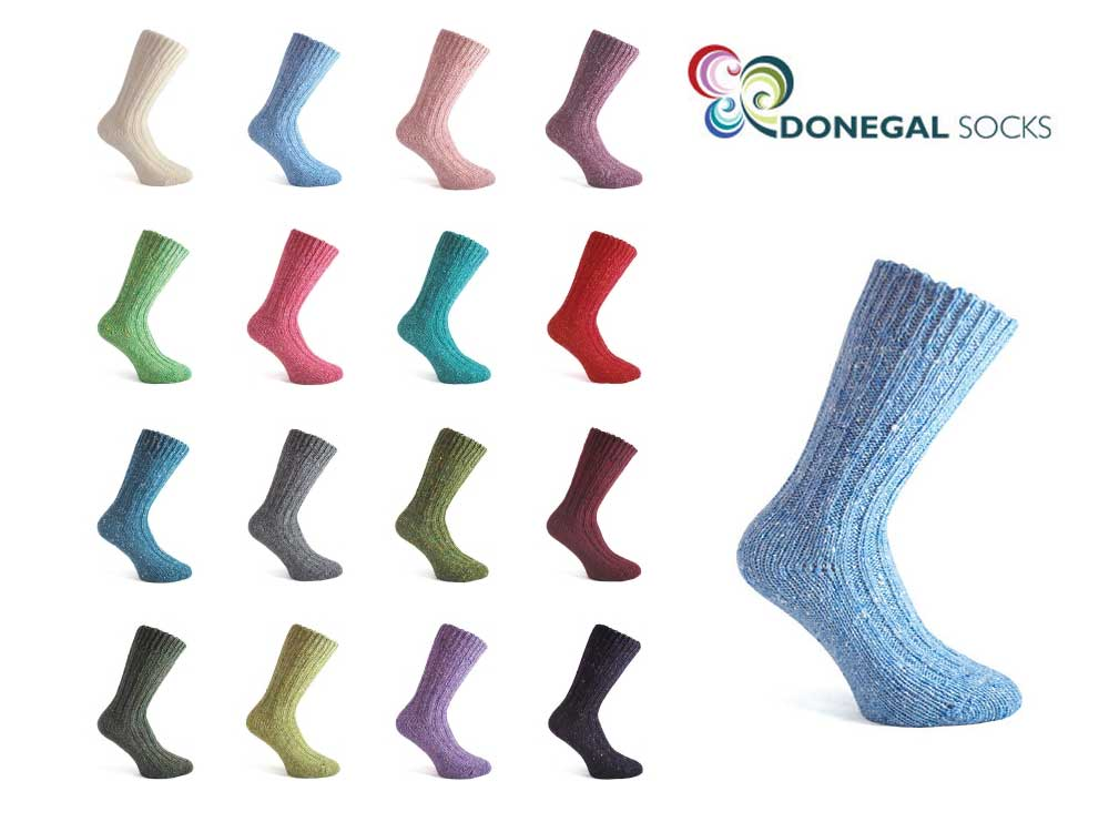 short Man wool Donegal Socks