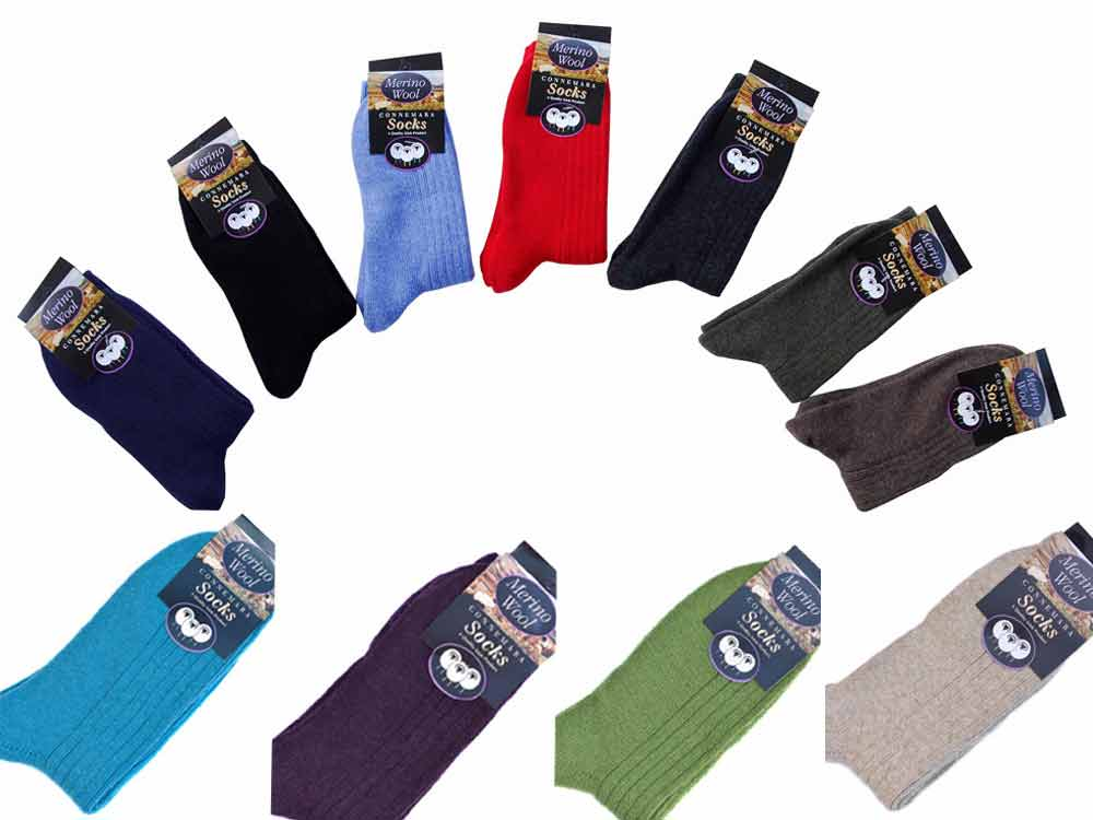 short Man merino wool Connemara Socks various