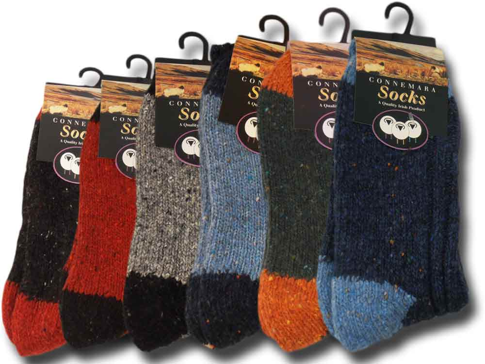 short Man wool Donegal Two Tone Socks