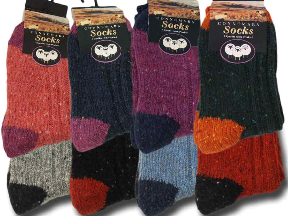 Calze corte donna lana Two tone Donegal Socks