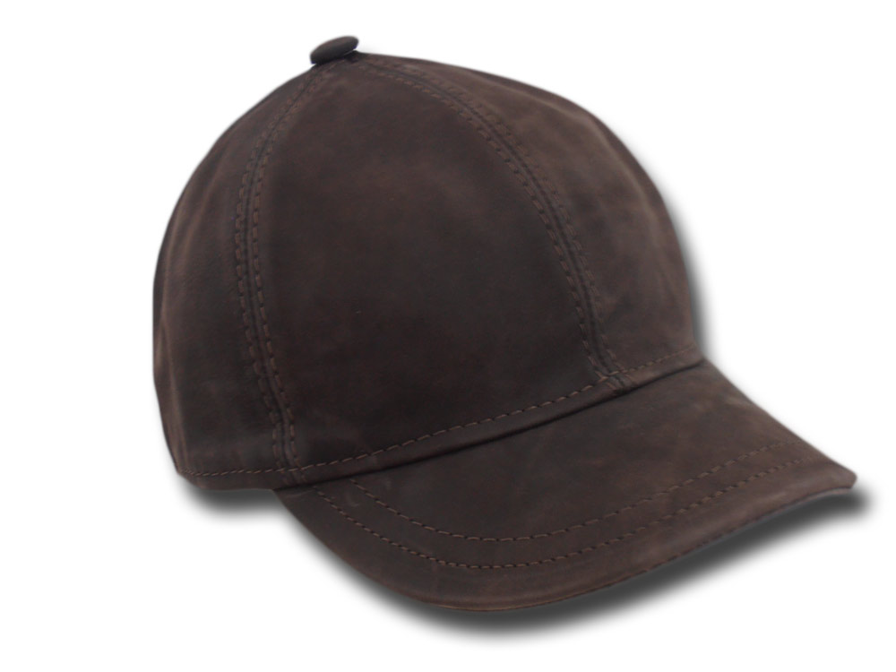Melegari leather baseballcap Brock