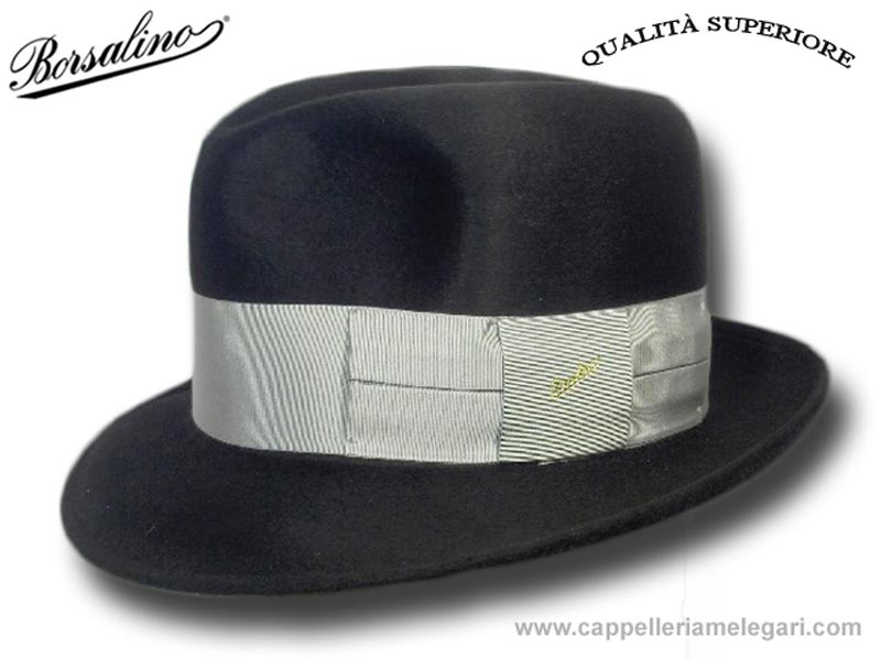 Borsalino Homburg God Father Hat Superior Qual