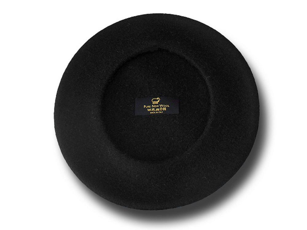 Basco unisex pura lana piatto 28cm nero 1197973cd589