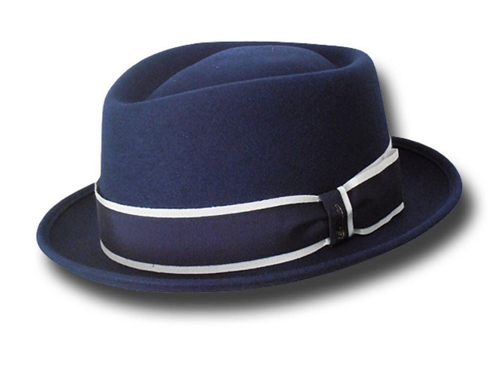 Borsalino pork pie hat Diamond striped band Da