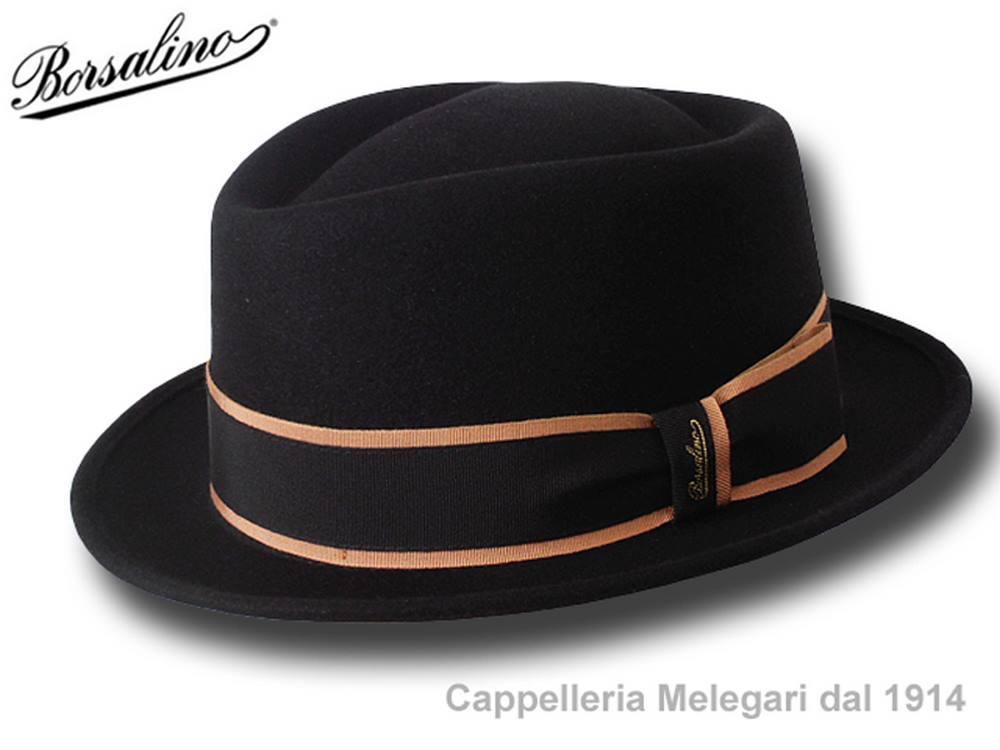 Borsalino Cappello pork pie Diamond nastro rig 67b8b6fc69b7
