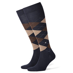 Burlington Wool socks man Edinburgh Blue-Brown