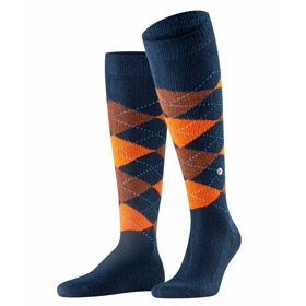 Burlington Socks man Preston Blue-Orange