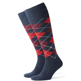 Burlington Socks man Preston Red Blue
