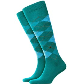Burlington Socks man Preston Green Water
