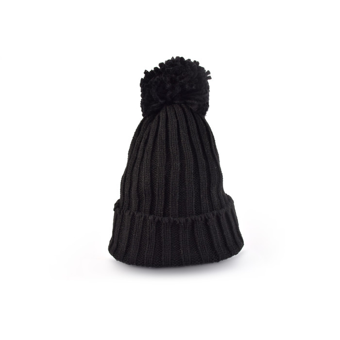 B2B Acrylic Beanie  with pom pom wholesale 04