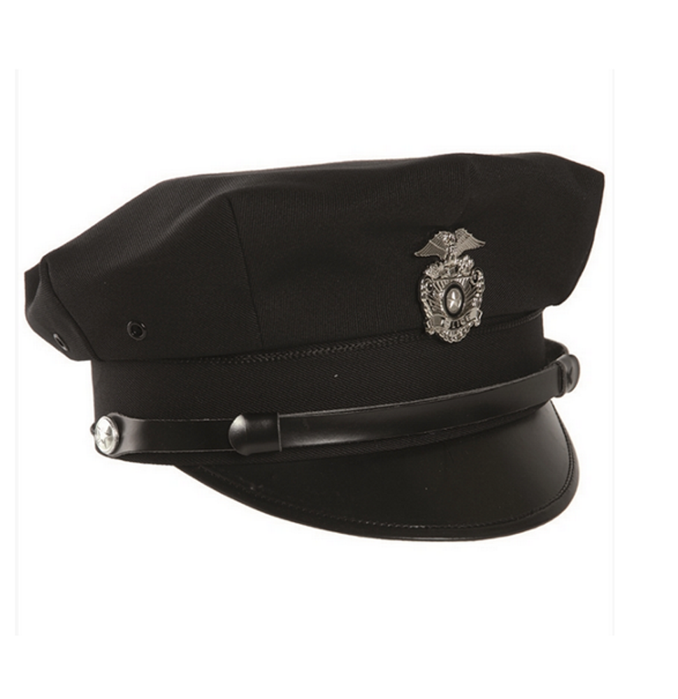 US Police visor hat with badge