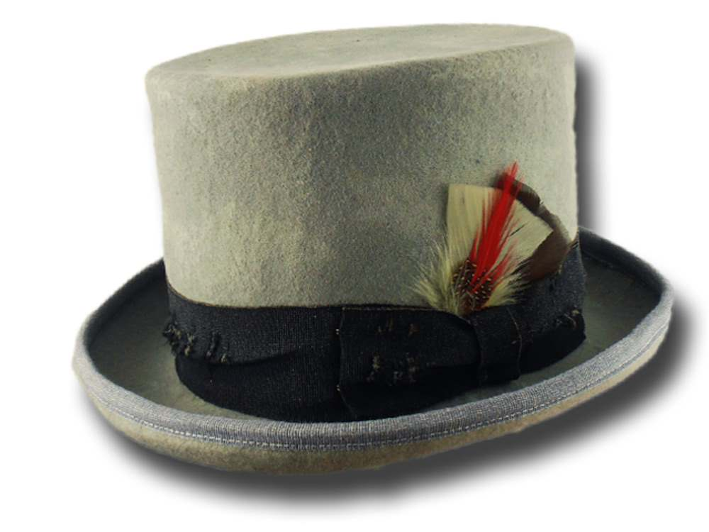 Funky Aged Top Hat Light Grey