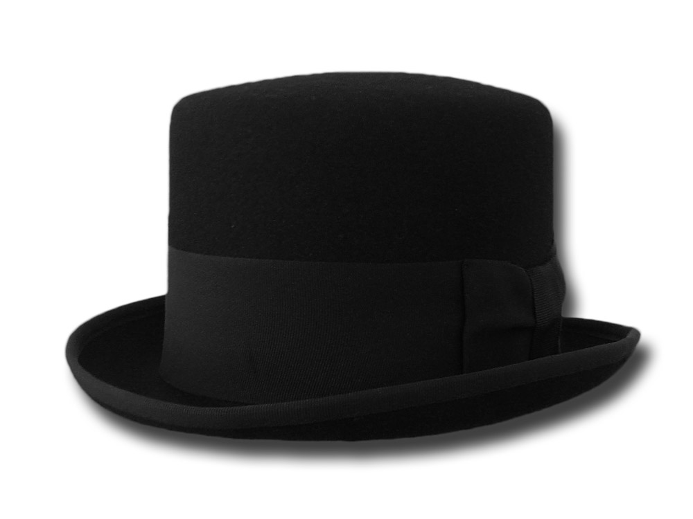 Wool top Hat Stovepipe Derby