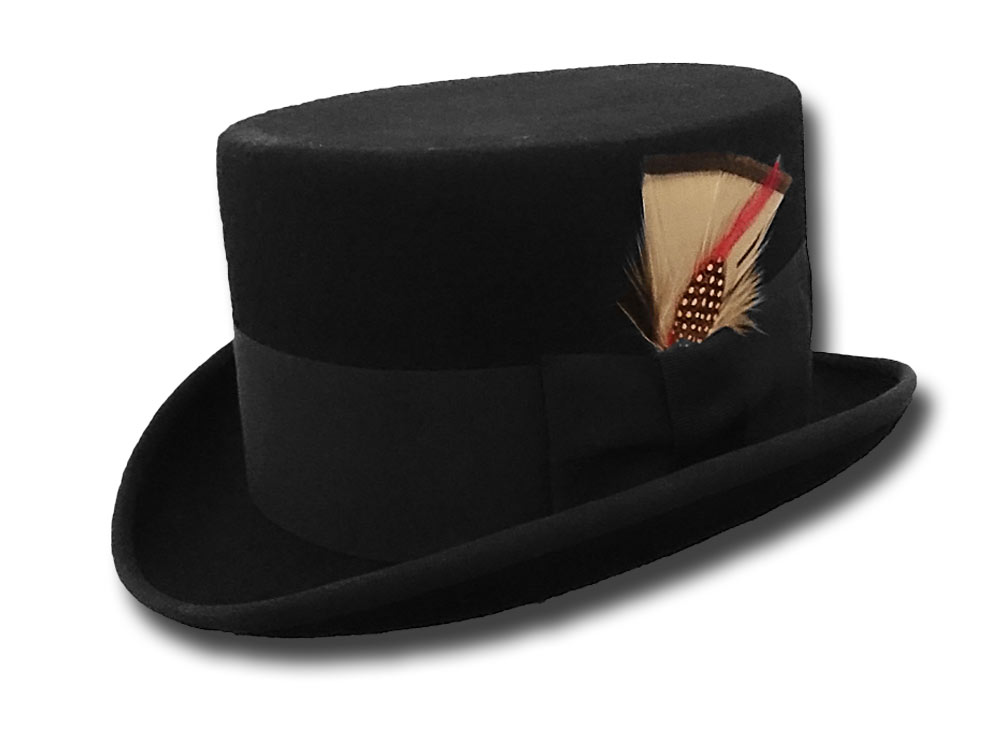Wool top Hat Stovepipe Western