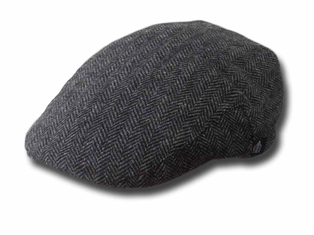 Shandon County  Fishbone flat cap Grey