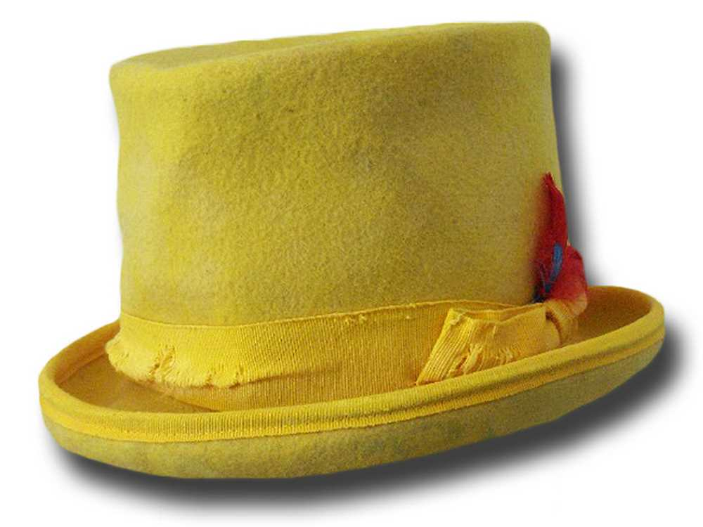 Cappello a cilindro Funky Aged Giallo
