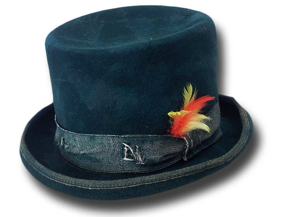 Funky Aged Top Hat Green