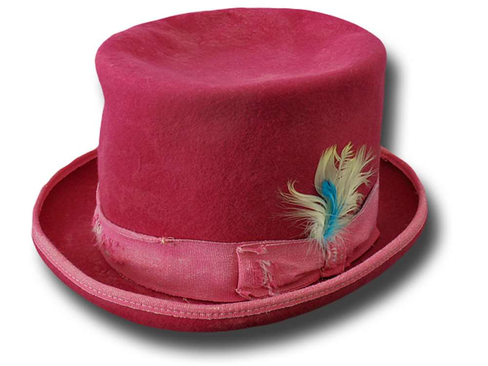 Funky Aged Top Hat Pink fuchsia