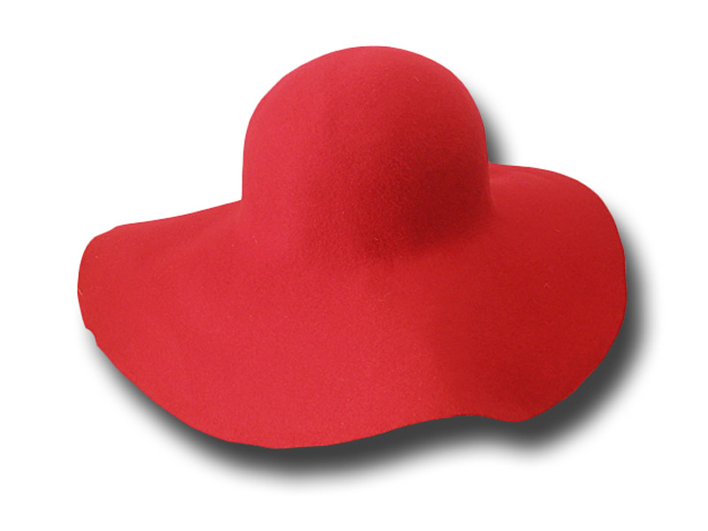 Hat body cone wool felt 120 gr, large brim