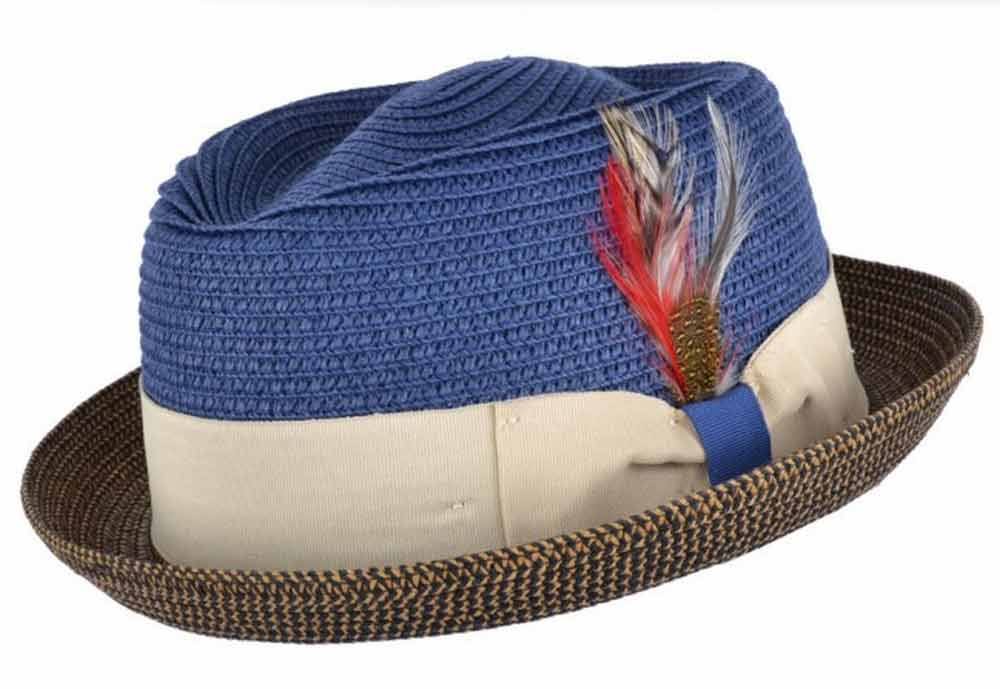 Cappello estivo Pork Pie Jazz Diamond Bicolor Hat