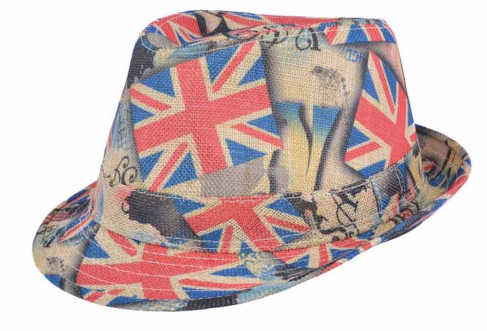Sommer trilby Union Jack hat