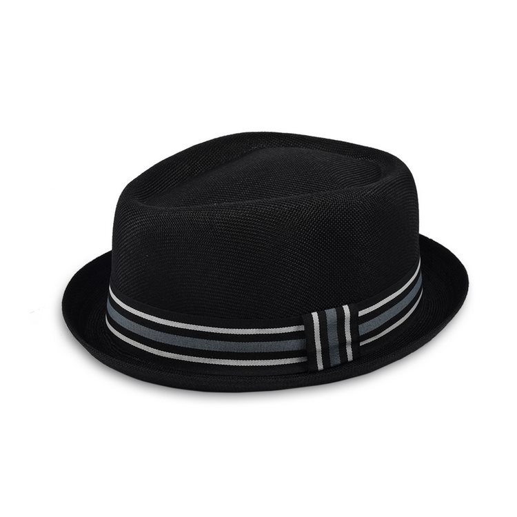Cappello estivo Pork Pie Jazz Hat Ralf Nero