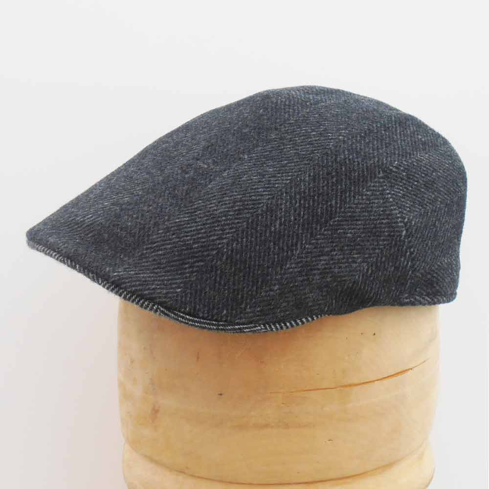 2e1bd4ee6d4 Borsalino Herringbone cashmere Duck cap Black