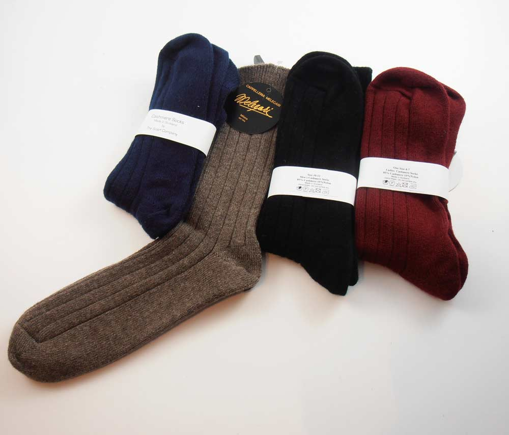 The scarf Company Mens Cashmere Socks