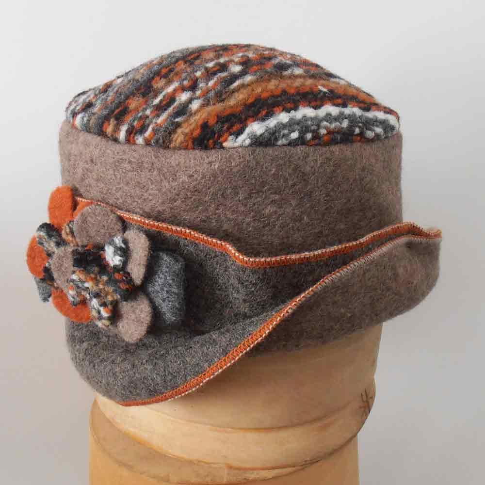 fb121eaf3c214 Melegari cloche wool cap Zaira