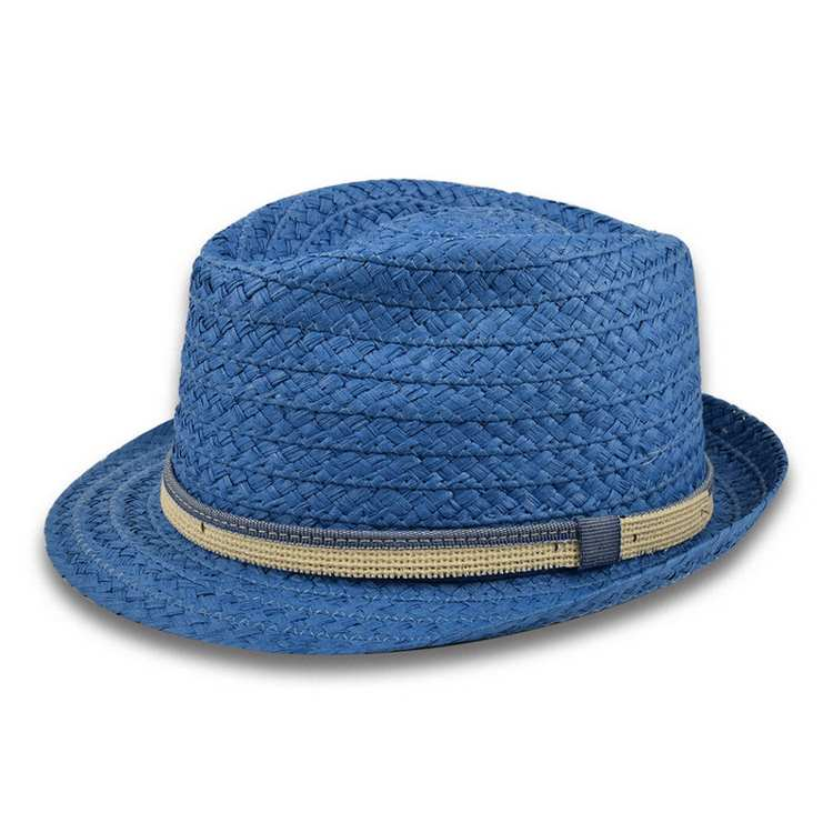 Melegari trilby Jazz summer hat York Blue mari