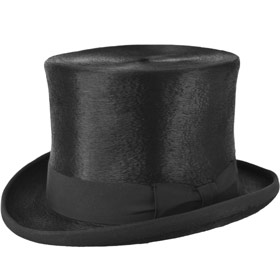 Top Hat melusine fur rabbit felt hat Black