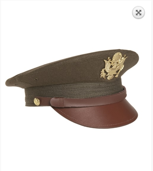 Berretto militare US OD Officier visor hat
