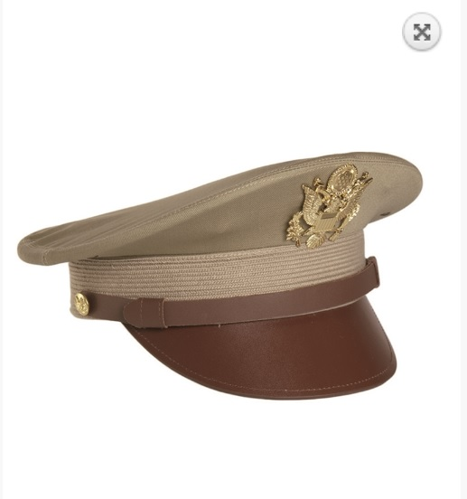 US Military Officer visor cap hat