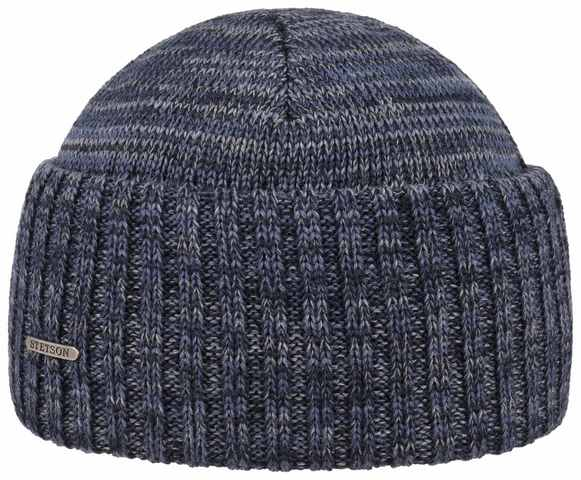 Stetson Wisconsin Northport merino wool Beanie hat Blue