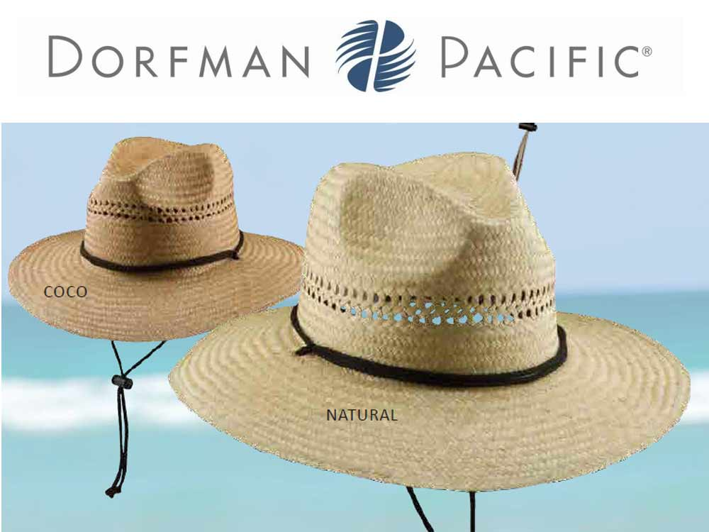 Dorfman Pacific Lifeguard palm straw Hat