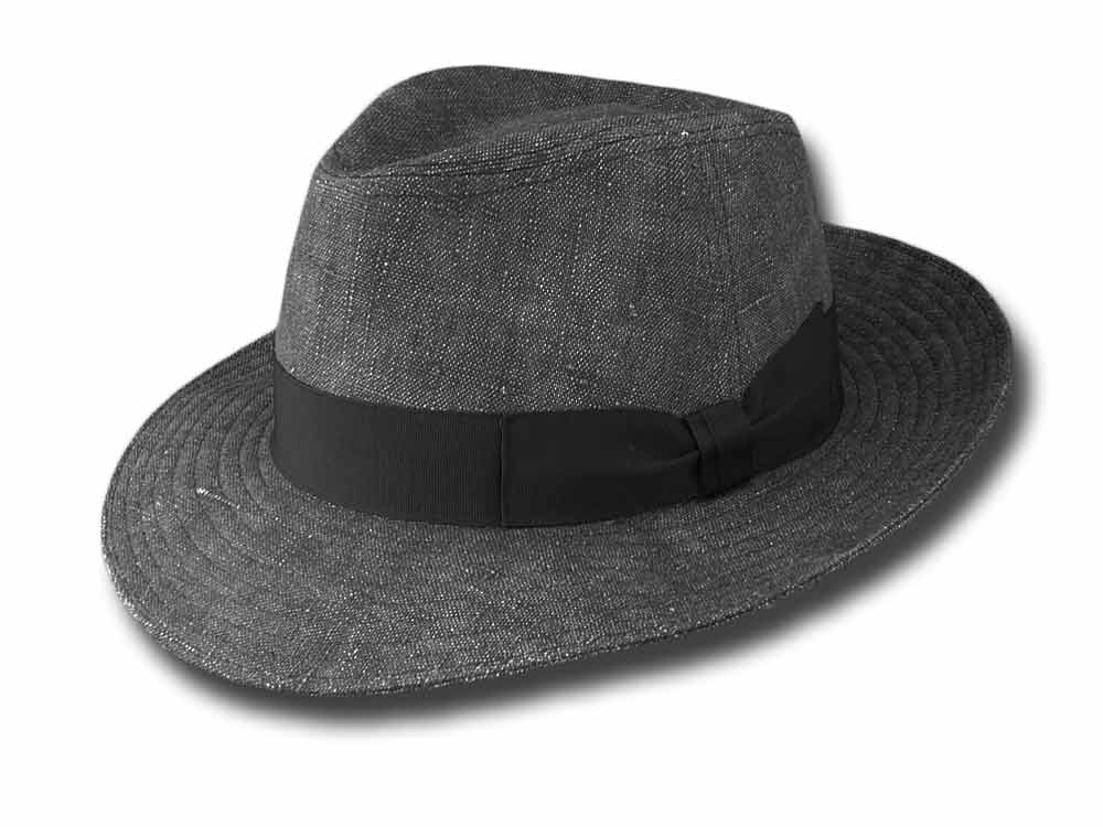 linen Bogart Hat Dark gray