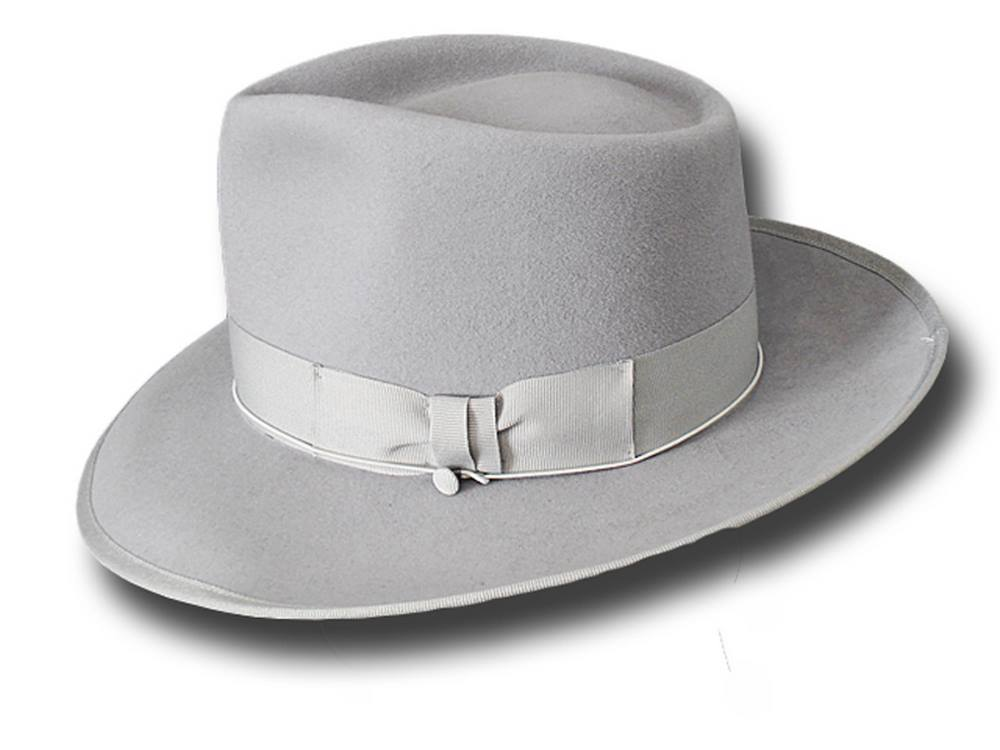Cappello Fedora Johnny Depp Top Quality Grigio