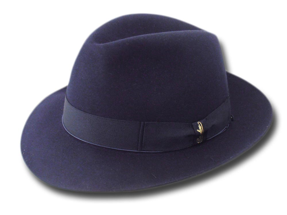Borsalino Fedora  Beaver hat with hatbox Blue