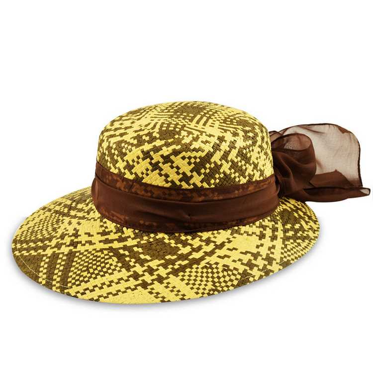 Melegari summer woman hat Funny Brown