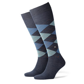 Burlington Wool socks man Edinburgh Blue marin