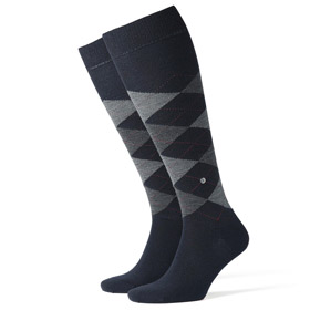 Burlington Wool socks man Edinburgh Dark Blue