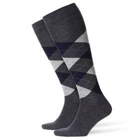 Burlington Wool socks man Edinburgh Grey